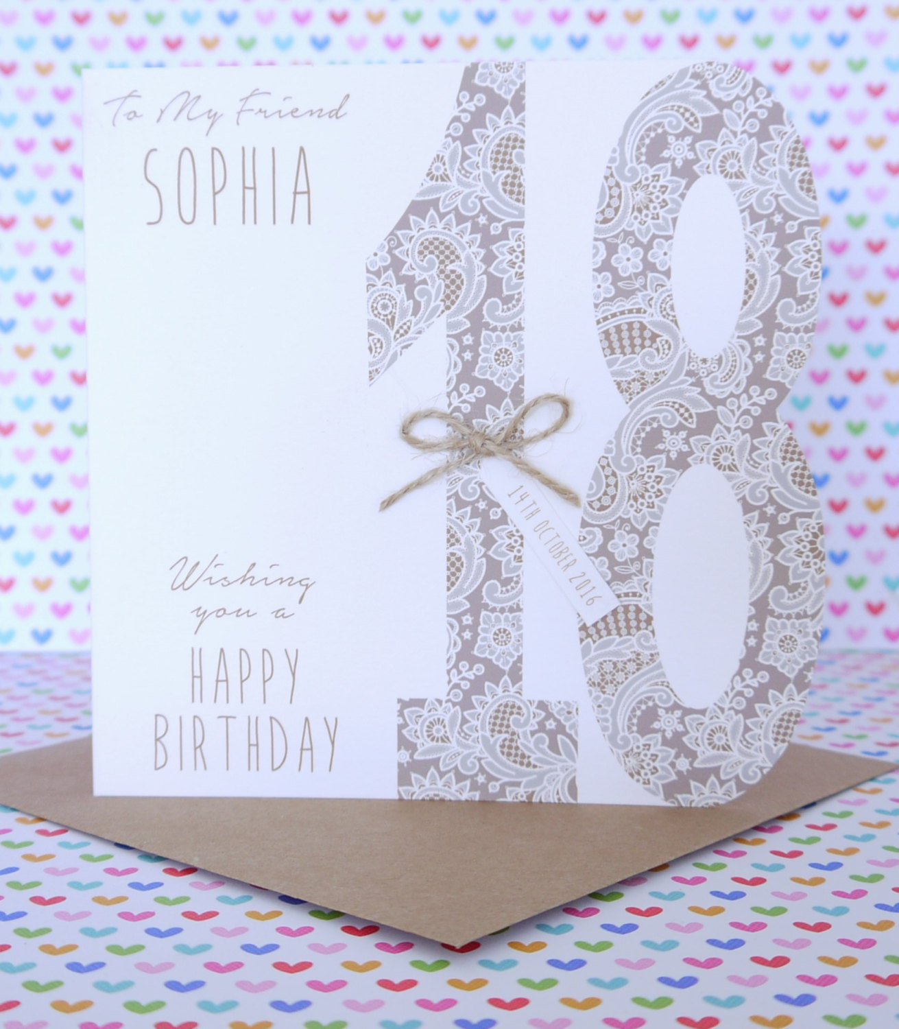 Beautiful Personalised Handmade Birthday Card 18th,21st ...