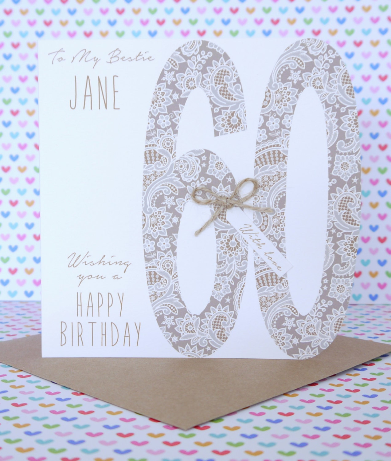 Beautiful personalised handmade birthday card 18th21st30th40th beautiful personalised handmade birthday card 40th50th60th bookmarktalkfo Image collections