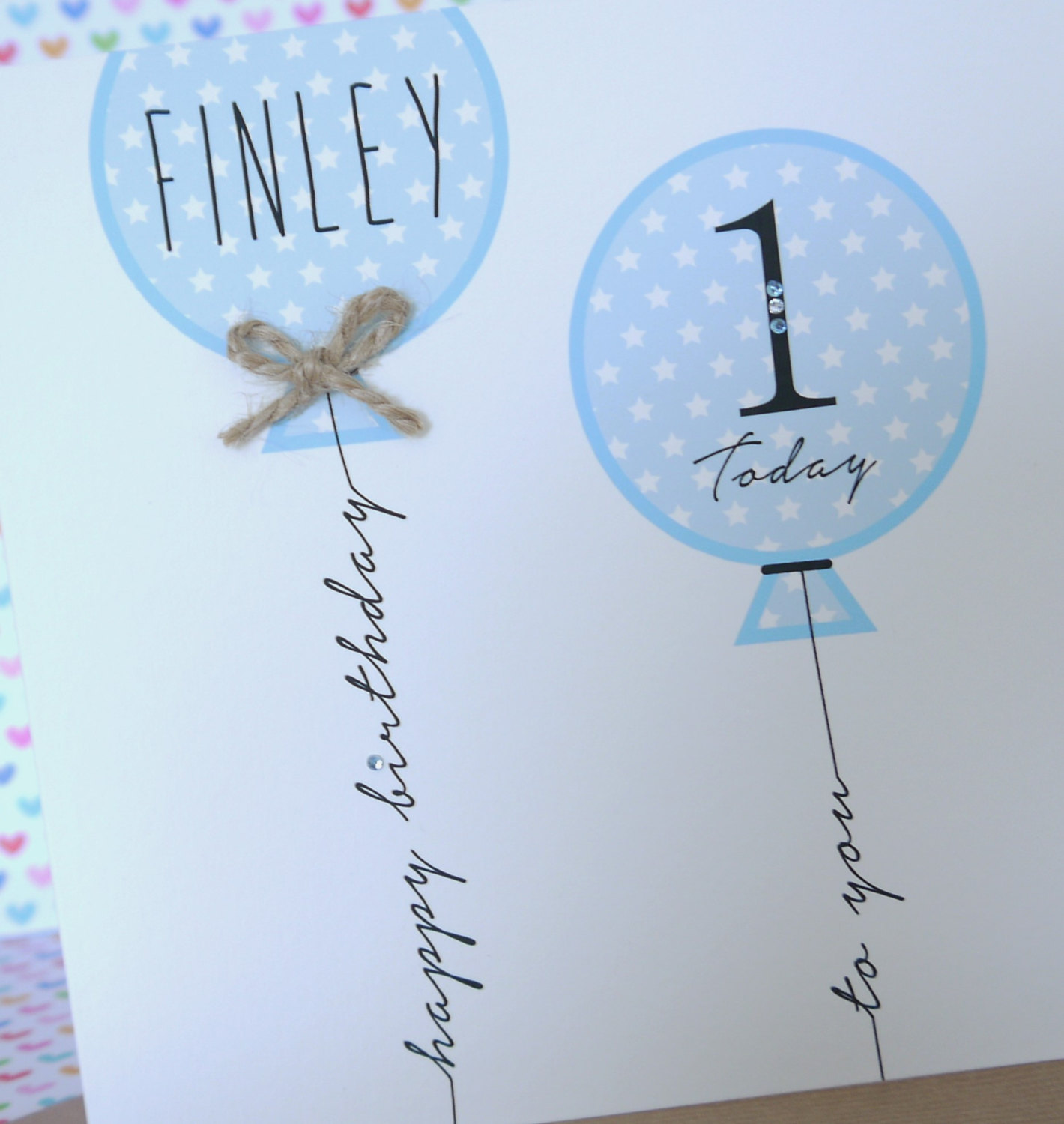 Beautiful Personalised Handmade Boy Birthday Card 1st 2nd 3rd 4th
