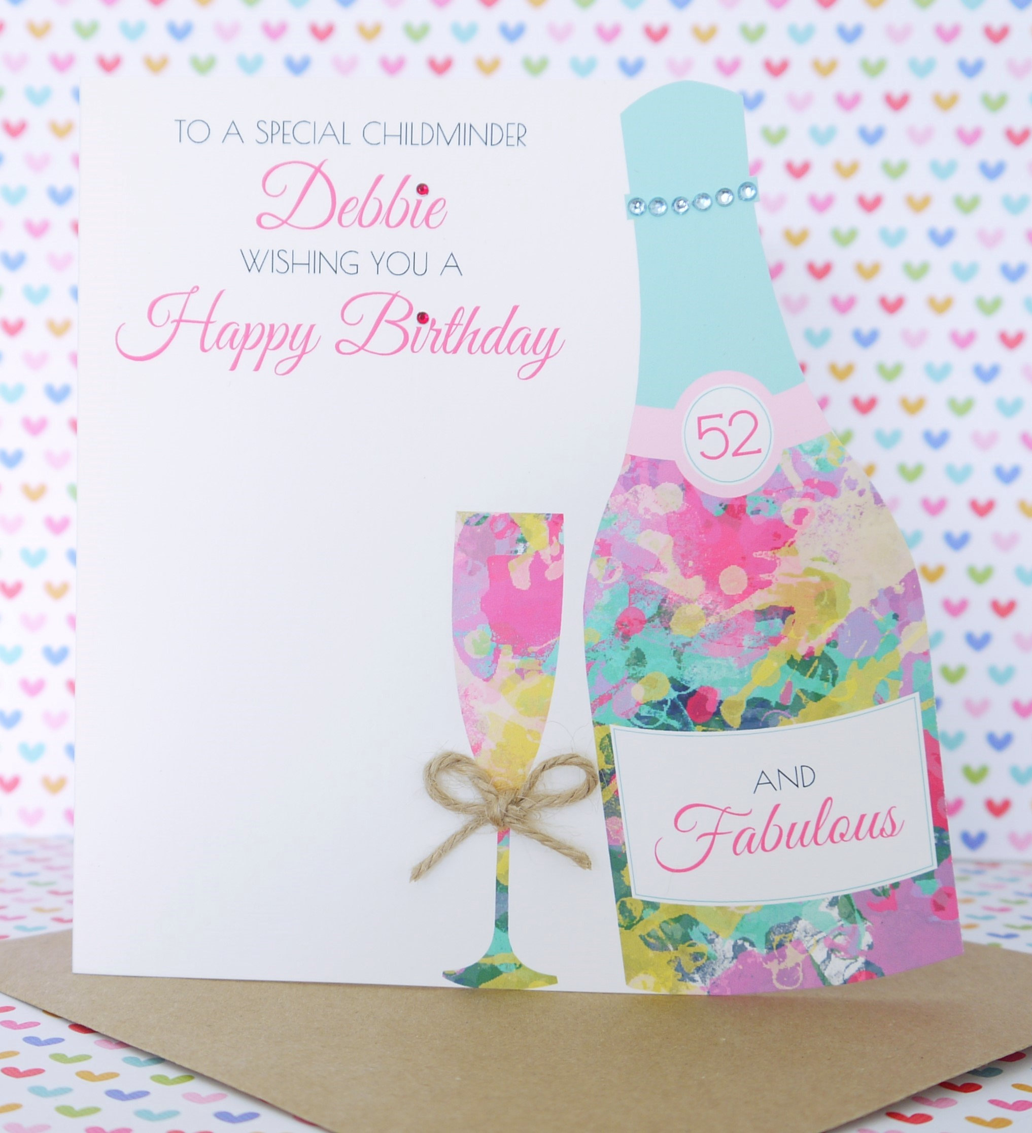Personalised handmade birthday card 18th 21st 30th 40th50th60th personalised handmade birthday card 18th 21st 30th 40th daughter cousin bookmarktalkfo Choice Image