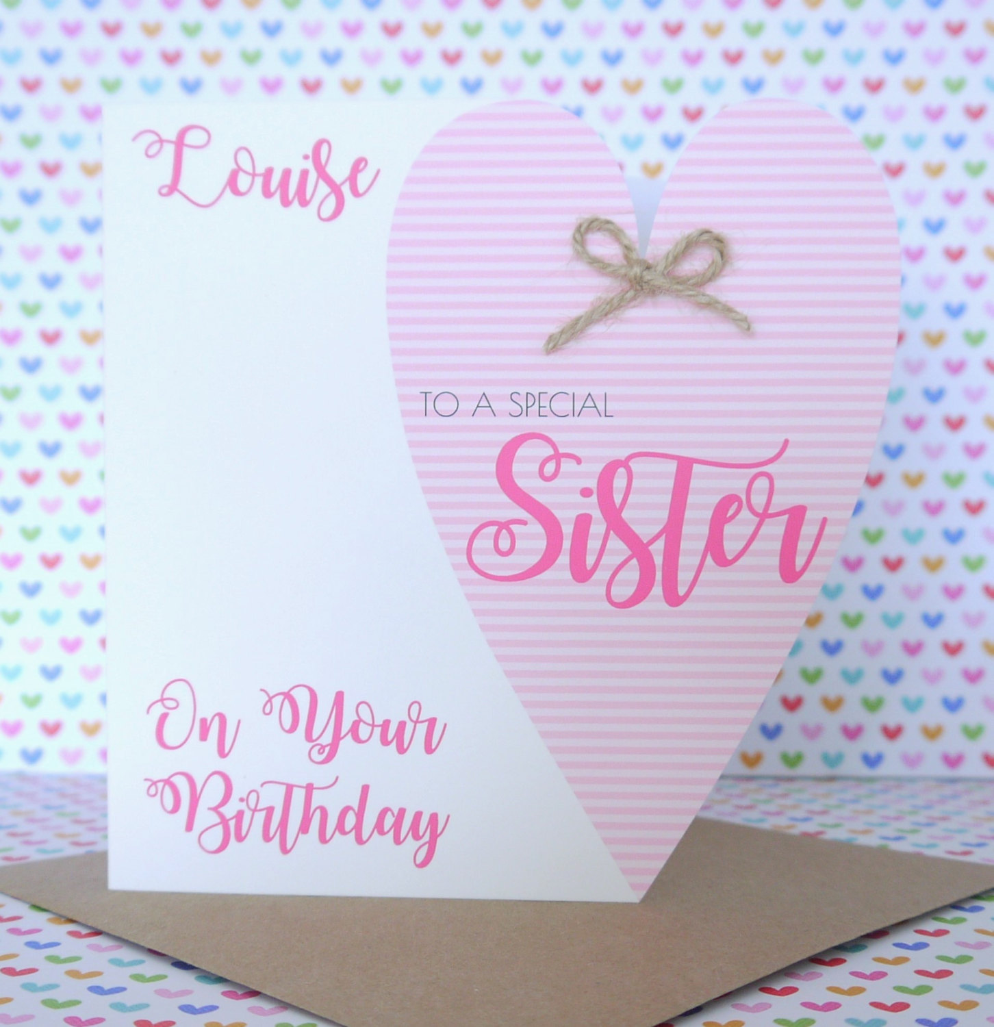 Personalised handmade birthday card friend sister mum nanny personalised handmade birthday card friend sister mum nanny auntie daughter kristyandbryce Choice Image