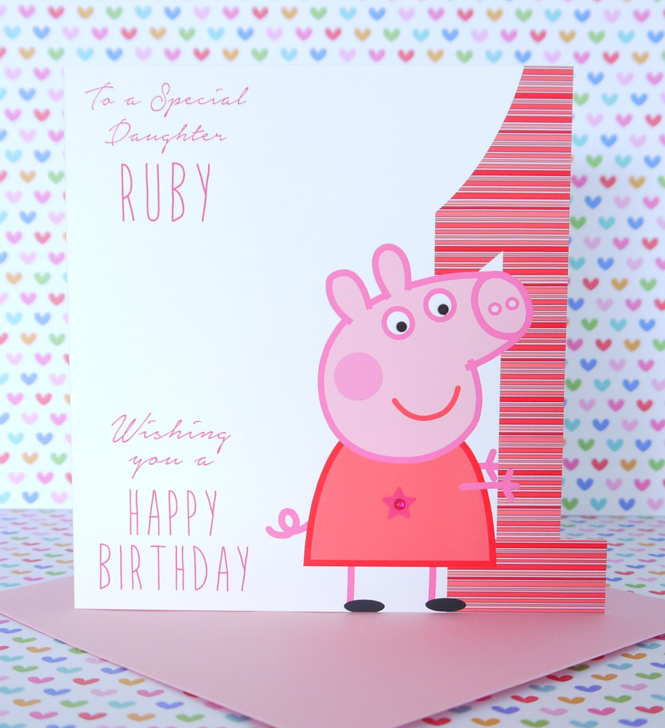 peppa pig personalised birthday card 28 images personalised